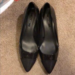 Zara black patent heels